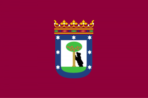 The flag of Madrid