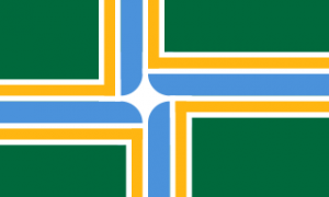 The flag of Portland, Oregon