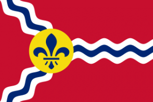 The flag of St Louis, Missouri